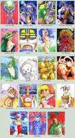 Sketchcard DarkStalkers Collection by fedde