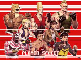 Tekken 20th Ann Trib Player Select by fedde