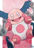 Daily Sketches Mr Mime by fedde