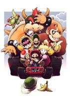 Mario Kart 64 N64 20th ann Tribute by fedde