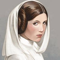 Daily Sketches Princess Leia by fedde