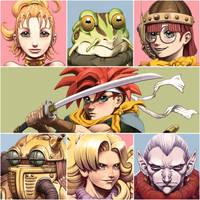 Chrono Trigger Headshots by fedde