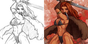 Daily Sketches Red Sonja by fedde