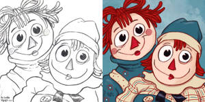 Daily Sketches Raggedy Ann and Andy by fedde