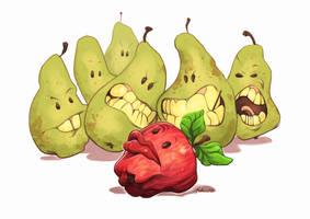 Envy Biting Pears by fedde