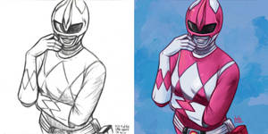 Daily Sketches Pink Power Ranger by fedde
