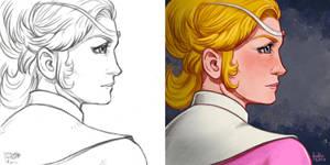 Daily Sketches Princess Allura by fedde