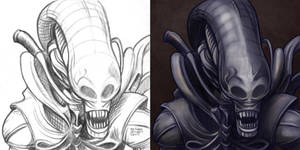Daily Sketches Alien by fedde