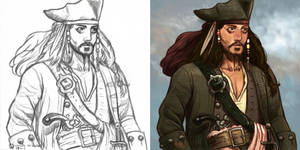 Daily Sketches Jack Sparrow by fedde