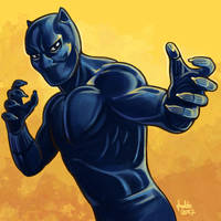 Daily Sketches Black Panther by fedde