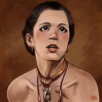 Daily Sketches Leia Organa by fedde