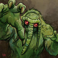 Daily Sketches Man-Thing by fedde