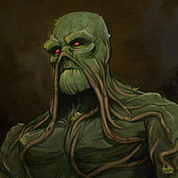 Daily Sketches Swamp Thing by fedde