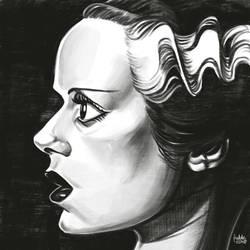 Daily Sketches Bride of Frankenstein by fedde
