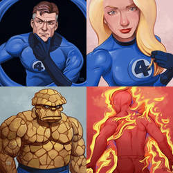 Fantastic Four daily sketches 2018 by fedde