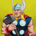 Daily Sketches Thor by fedde