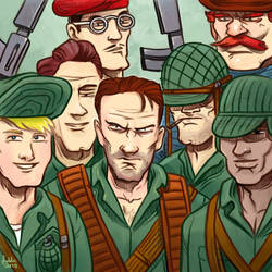 Daily Sketches Sgt. Fury and his Howling Commandos by fedde
