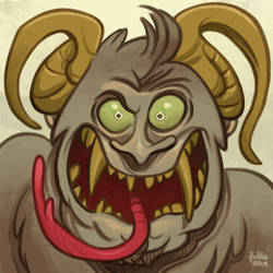 Daily Sketches Krampus by fedde