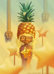 pineapple voodoo priestess by ginee