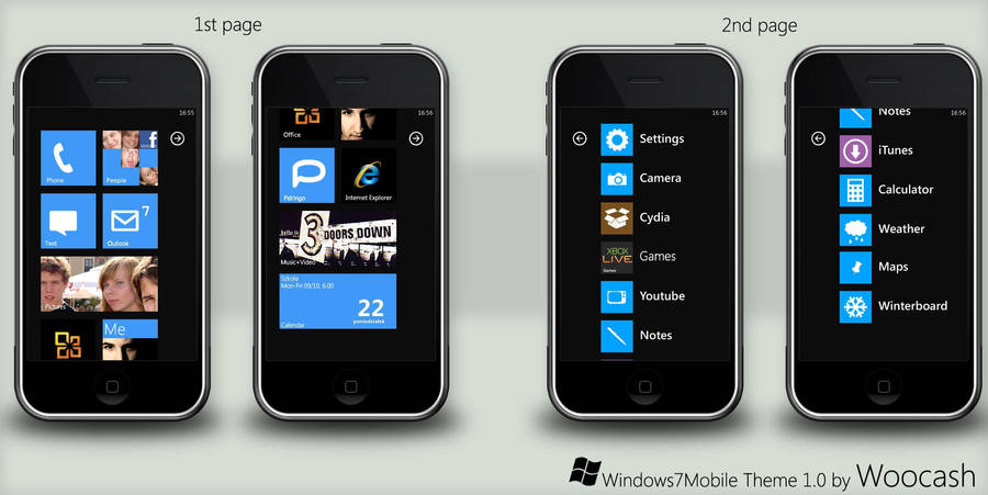 Windows 7 Mobile Theme by woocash-kun