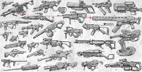 Sketches Weapons by NOMANSNODEAD