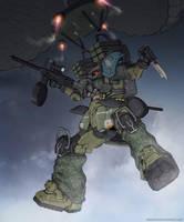 Paratrooper by NOMANSNODEAD