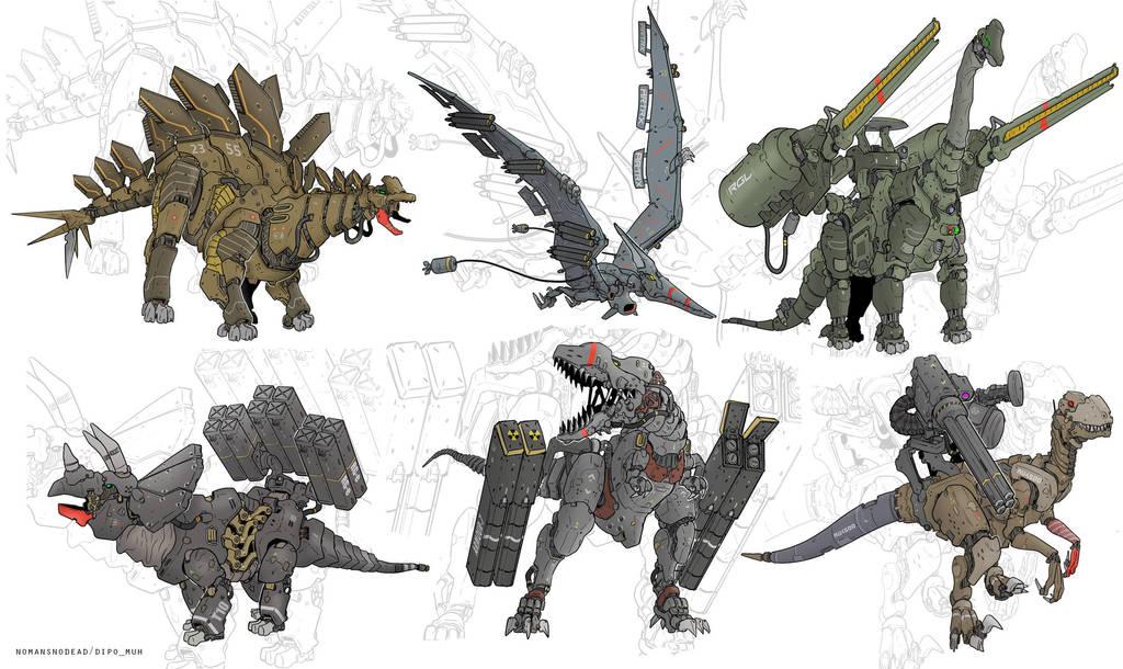 Dinomechs by NOMANSNODEAD
