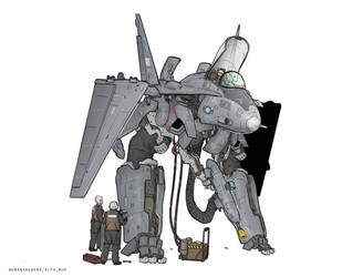 Weirdly looking flying machine by NOMANSNODEAD