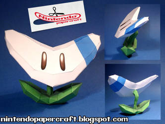 Boomerang Flower Papercraft by squeezycheesecake