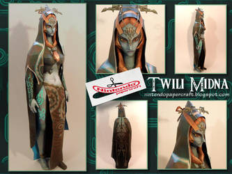Twili Form Midna Papercraft by squeezycheesecake
