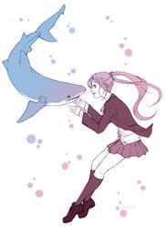 Shark tamer by blueorca2