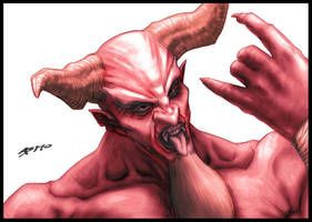 Dave Grohl as Satan by sidewalkmonster