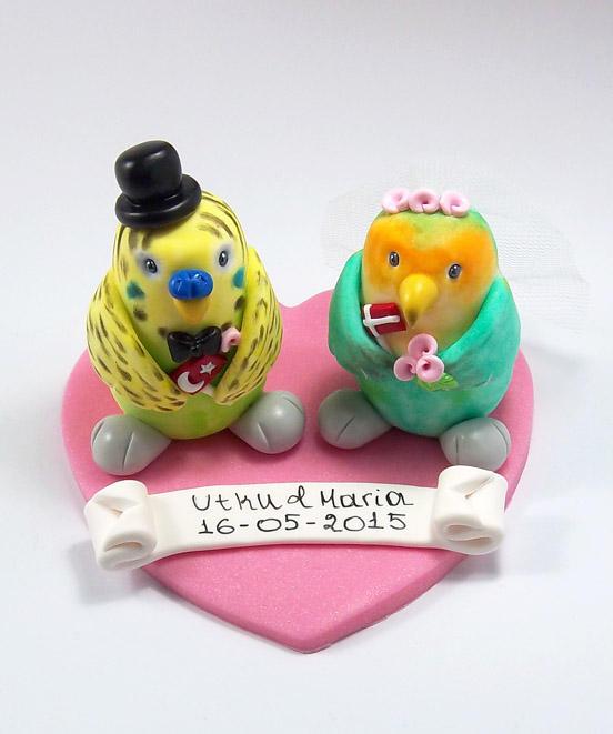Birds Wedding Cake Topper by HeartshapedCreations