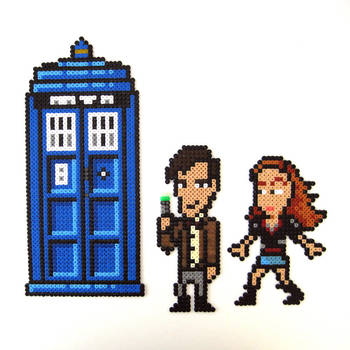 Doctor Who 8-Bit Characters by arcade-art