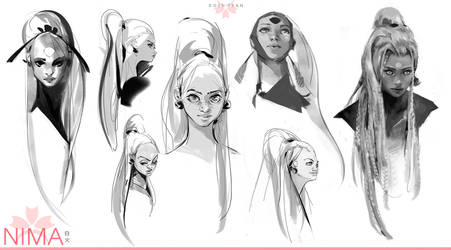 Nima Sketches by rossdraws