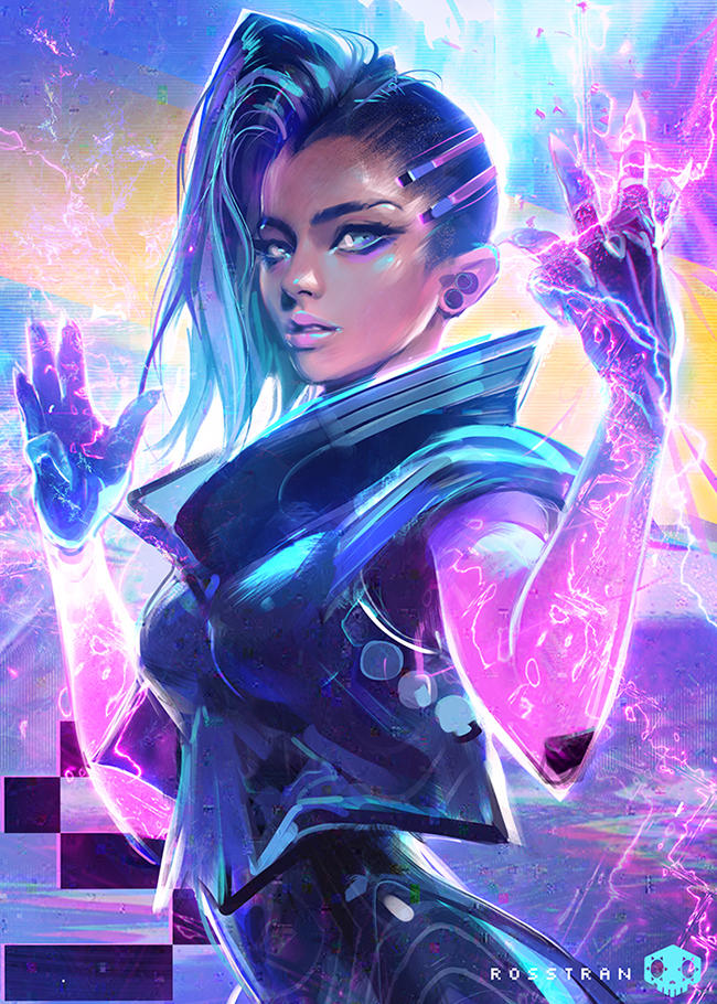 Sombra - YOUTUBE! by rossdraws
