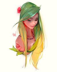 Leaf girl sketch by rossdraws