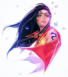 Wonder Woman sketch by rossdraws