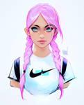 Nike girl by rossdraws