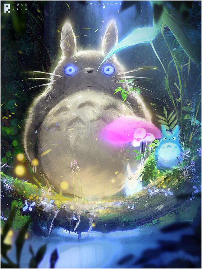 Totoro : YouTube! by rossdraws