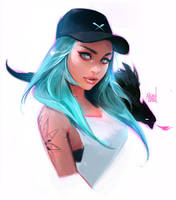 Cap Girl - Stylized Portrait Tutorial! by rossdraws