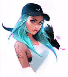 Cap Girl - Stylized Portrait Tutorial! by rossdraws