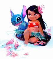 Lilo and Stitch Sketch by rossdraws