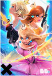 Peach Daisy and Rosalina : YouTube! by rossdraws