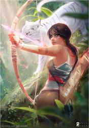 Tomb Raider Lara Croft : YouTube! by rossdraws