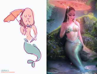 Mermaid redraw! : YouTube by rossdraws