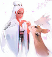 Nima and Deers sketch by rossdraws