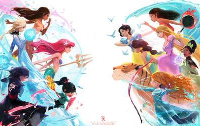Disney Princess Battle Royale : YouTube! by rossdraws