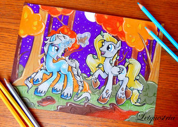 Snowspell and Cobalt Tangle by LtiaChan
