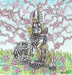 Domino in garden by Grox-12